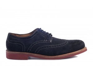 Gordon and Bros 2318 Navy RS Suede Derby