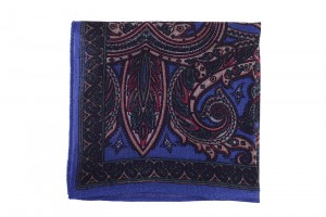 Pocket Square Navy/ Orient